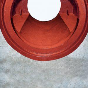 Particolare dell'innesto  del tubo nel pozzetto