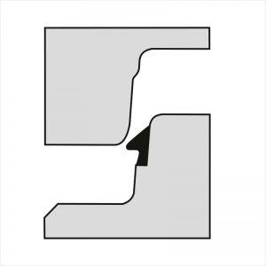 Giunto di sezione cuneiforme